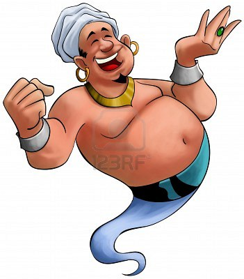 9022513-happy-fat-genie-smiley-in-the-moment-when-he-appears